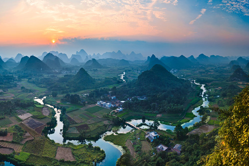 Cuiping Mountains and River Photography in Yangshuo