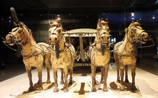 Bronze Chariots and Horses in Qinshihuang Mausoleum