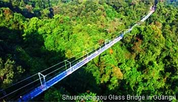 Shuanglonggou glass bridge