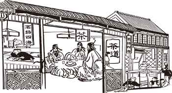 Chinese teahouses in ancient times