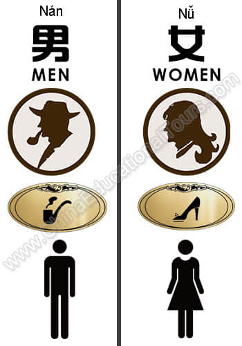 The most common restroom signs