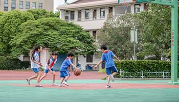 Playing the basketball