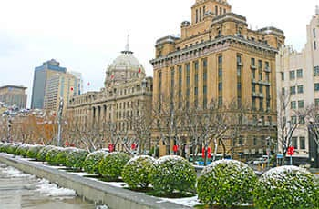 the bund in winter