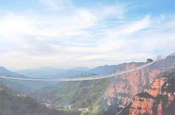 hongyagu glass suspension bridge
