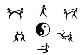 tai chi diagram with kungfu postures