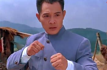 jet li in the movie of fist of legend