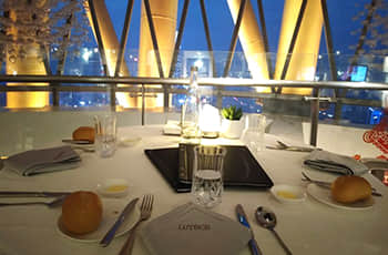 lutece french buffet revolving restaurant
