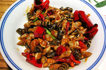 stir-fried conches
