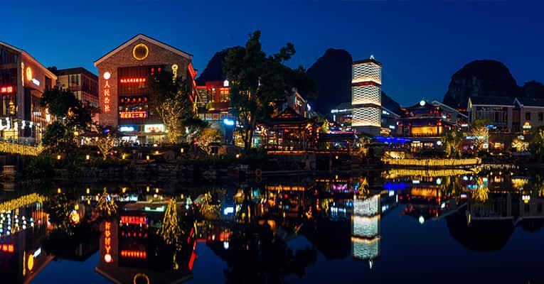 evening in yangshuo west street