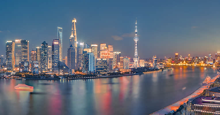 night view of huangpu river