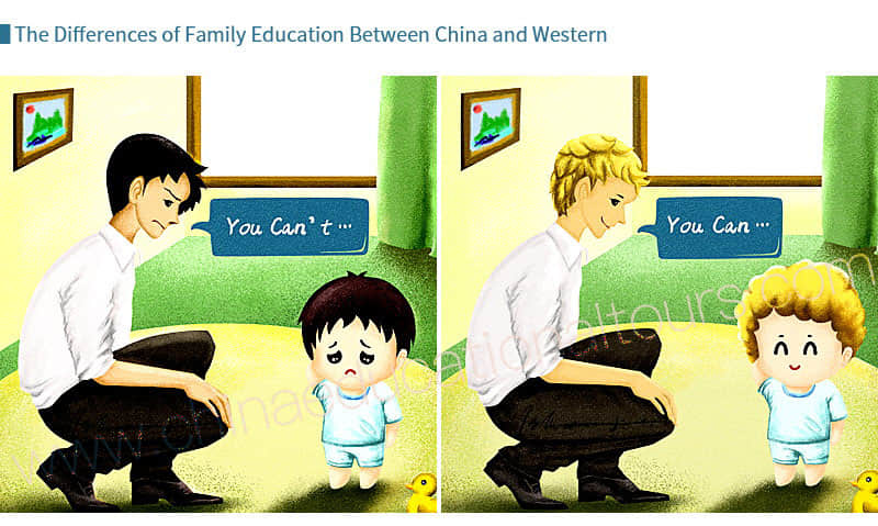 the differences of family education between China and Western