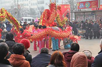 The folk activity dragon dance