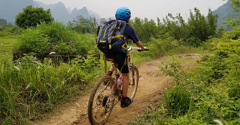 off-road biking