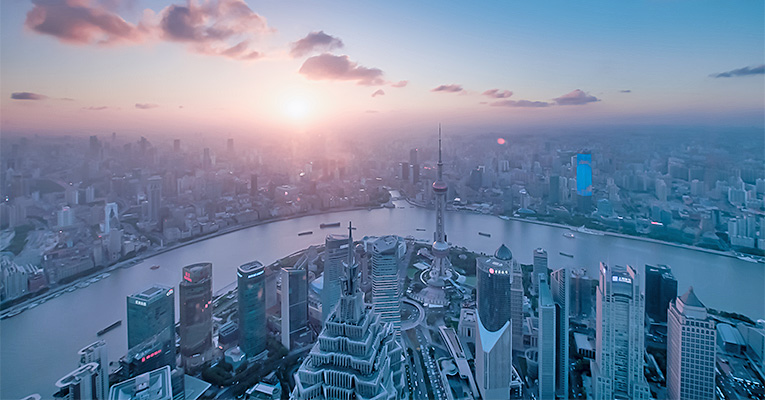 Watch the sunset from the Shanghai World Financial Center