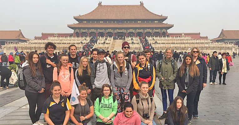 students in the Forbidden City