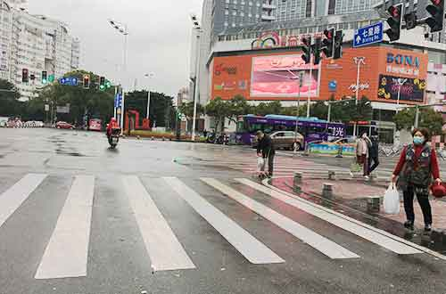 cross the street in China