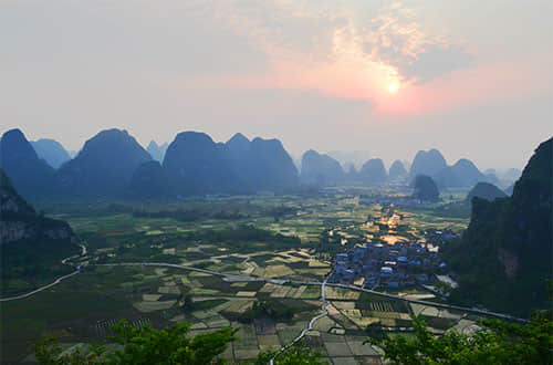 countryside around guilin city