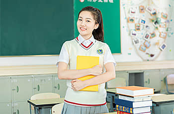 a student in a classroom