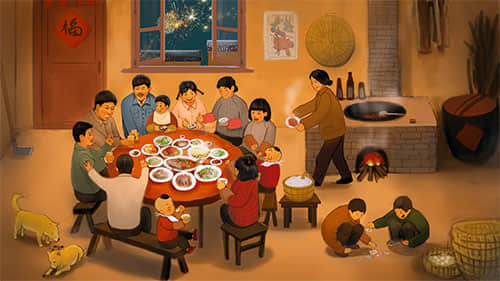 New year eve dinner