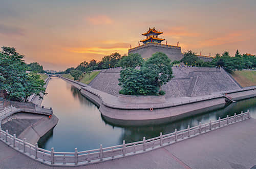 a moat in Xi'an