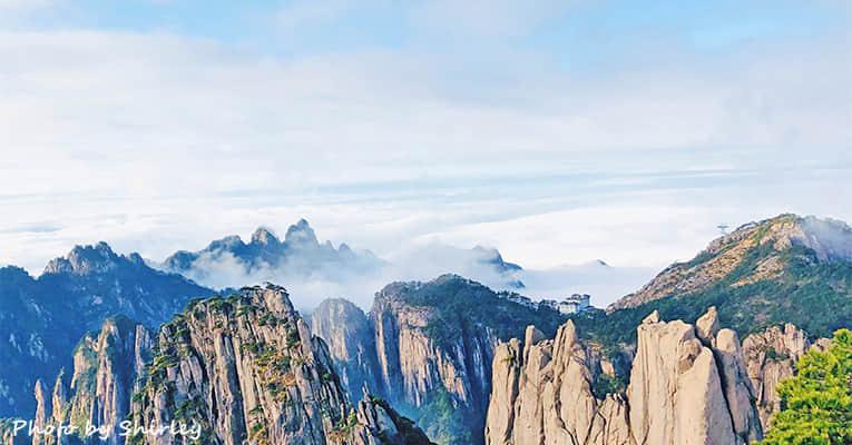 huangshan mountain with cloud