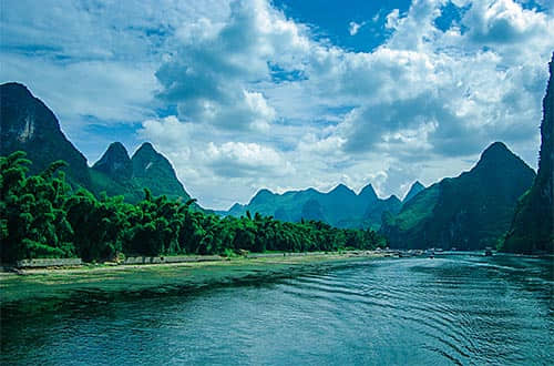 Hills and Trees along the Li River