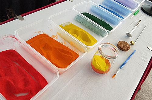 sand-bottle making