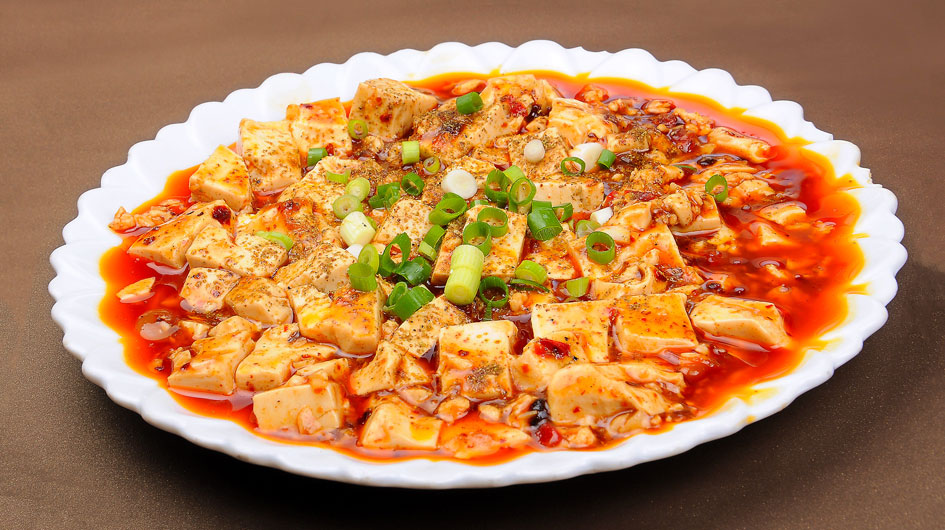 Tofu with Chili and Sichuan Peppers