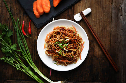 Hot and Dry Noodle With Sesame Paste