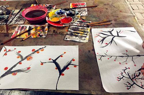 Painting Fan Making