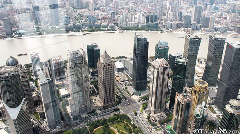 The skyscrapers of Huangpu River