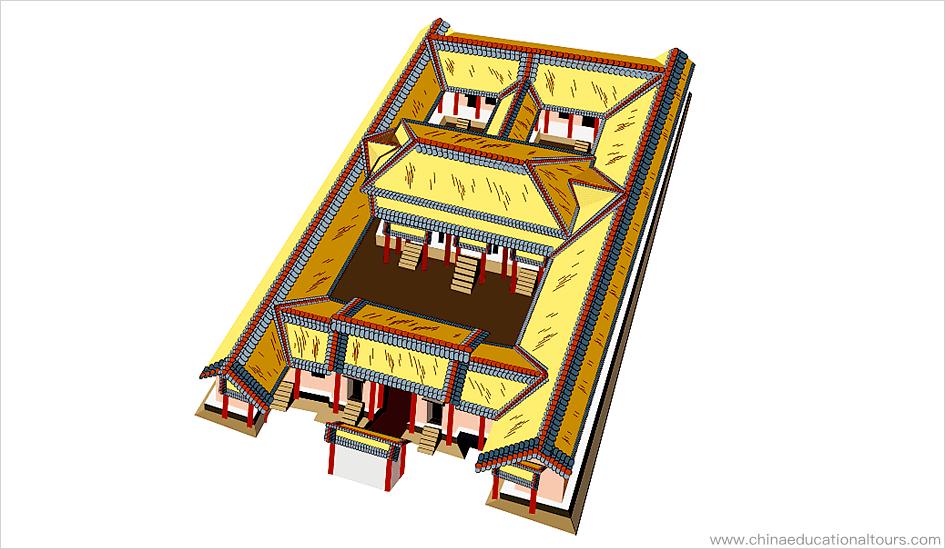the earliest Siheyuan in the Zhou dynasty