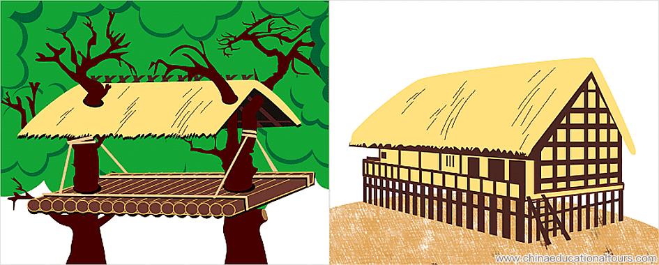 a stilt house