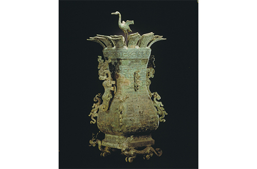 the lotus and crane square ewer