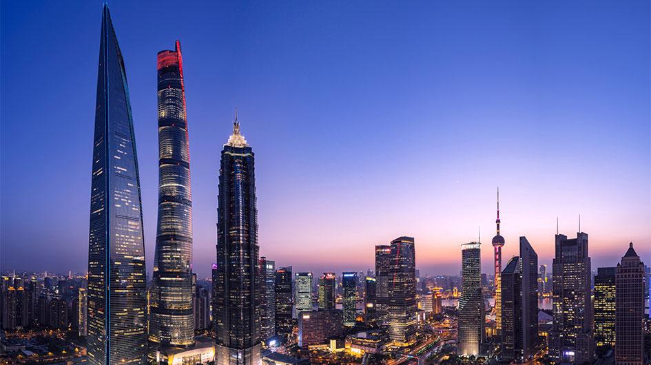 skyscrapers in Shanghai